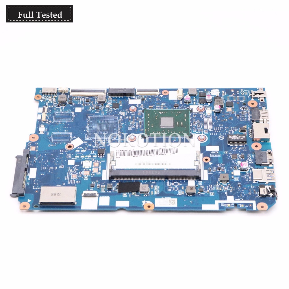 NOKOTION 5B20L72714 Main board For Lenovo Ideapad 110-15ACL Laptop Motherboard DG520 NM-B051 With A8-7410 CPU DDR3NOKOTION 5B20L72714 Main board For Lenovo Ideapad 110-15ACL Laptop Motherboard DG520 NM-B051 With A8-7410 CPU DDR3