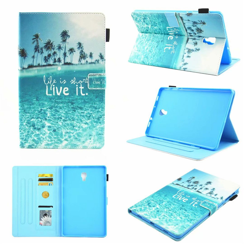 Cartoon Case For Samsung Galaxy Tab A A2 2018 10.5 Inch T590 T595 T597 SM-T590 Cover Funda Tablet Fashion Painted Stand Shell