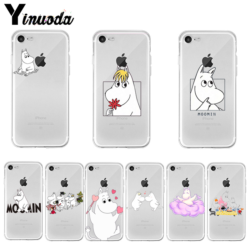 Yinuoda Lovely Hippo Moomin Pattern Rubber Soft Phone Accessories Cover For Apple Iphone 8 7 6 6s Plus X Xs Max 5 5s Se Xr Cover