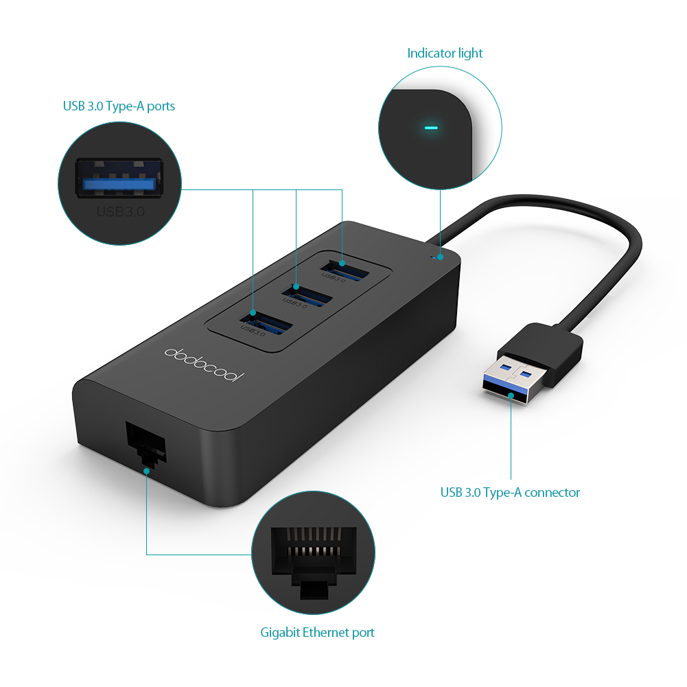 Usb 3 0 To Ethernet Wiring Diagram Electrical Diagrams 2 Dodocool Port Usb3 Hub 5gbps Rj45 Gigabit Lan Wired 30 Docking Station