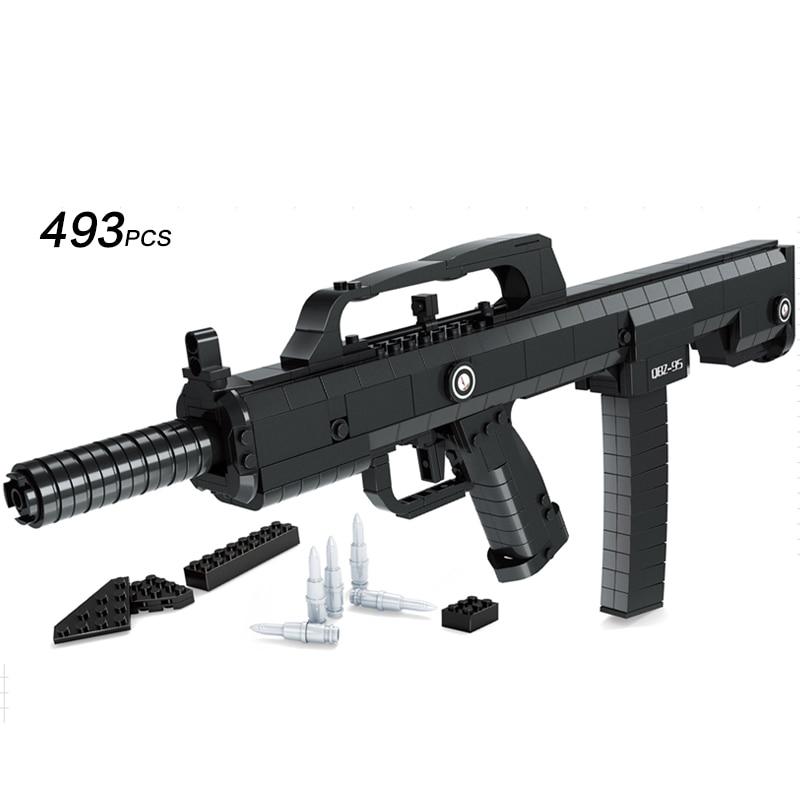 Ausini 493PC 95  Automatic Rifle Model Toys Building Blocks Sets Educational DIY Assemblage Bricks Boy Toy