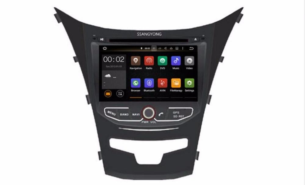 Встроенная память 16 г 4 ядра android 7.1 Fit Ssangyong New Actyon, korando 2010-2014 2015 dvd-плеер автомобиля Мультимедиа Навигация GPS DVD