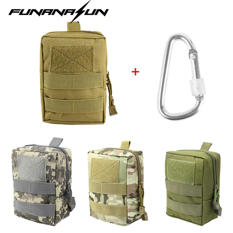 Tactical Molle Oxford Waist Belt Bag Military Pouch Wallet Purse Outdoor Sport EDC Pack Camping First Aid Bag