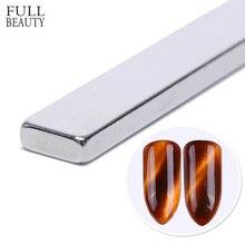 Полный Красота 1 шт 3D сильный кошачий глаз Магнитная палочка Slice для УФ-гель Лаки ногтей инструмент 3D линии в полоску Effect Nail гель Декор CH556-1