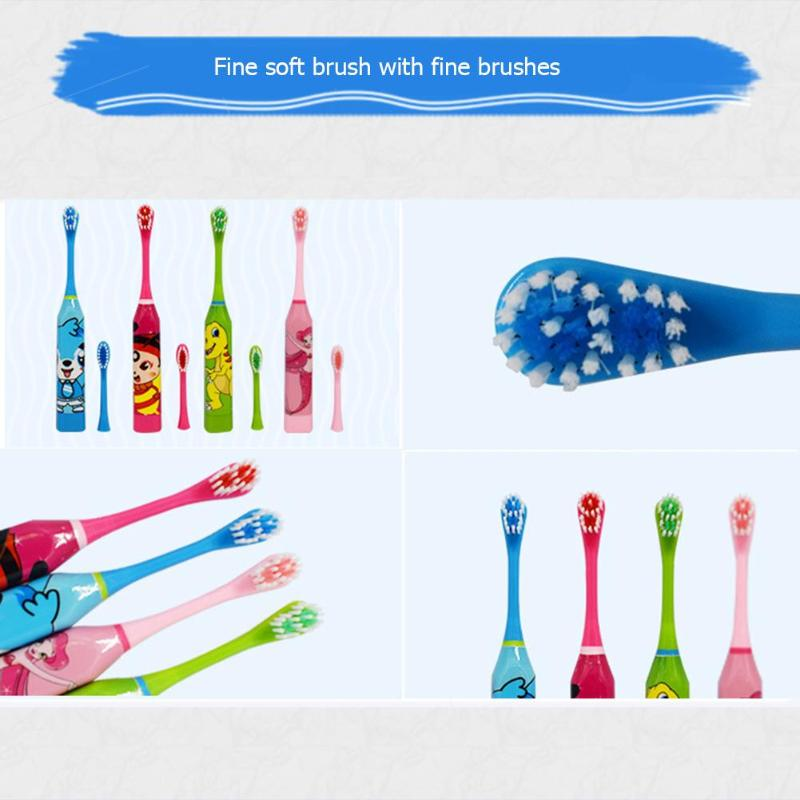 Children Electric Toothbrush Cartoon Pattern Double-sided Tooth Brush Electric Teeth Brush For Kids with 2pcs Replacement Head2