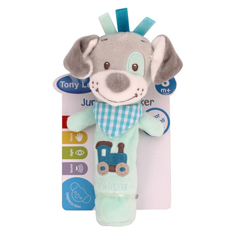 High Quality Safety Plush PP Cotton Baby Lathe Hanging Ring Animal Rattle Crib Hanging Baby Stroller <font><b>Toys</b></font> Teethers Stuffed Doll image
