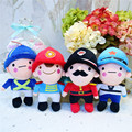British Soldiers Plush Toys Cute Handome Soldier Brothers Peluche Dolls Kids Baby Cartoon Gift 4pcs/lot 20cm