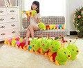 50 см горячая распродажа красочные гусеница ошибка тысячелетия плюшевые игрушки большой гусеница подушку детей подарки PT021