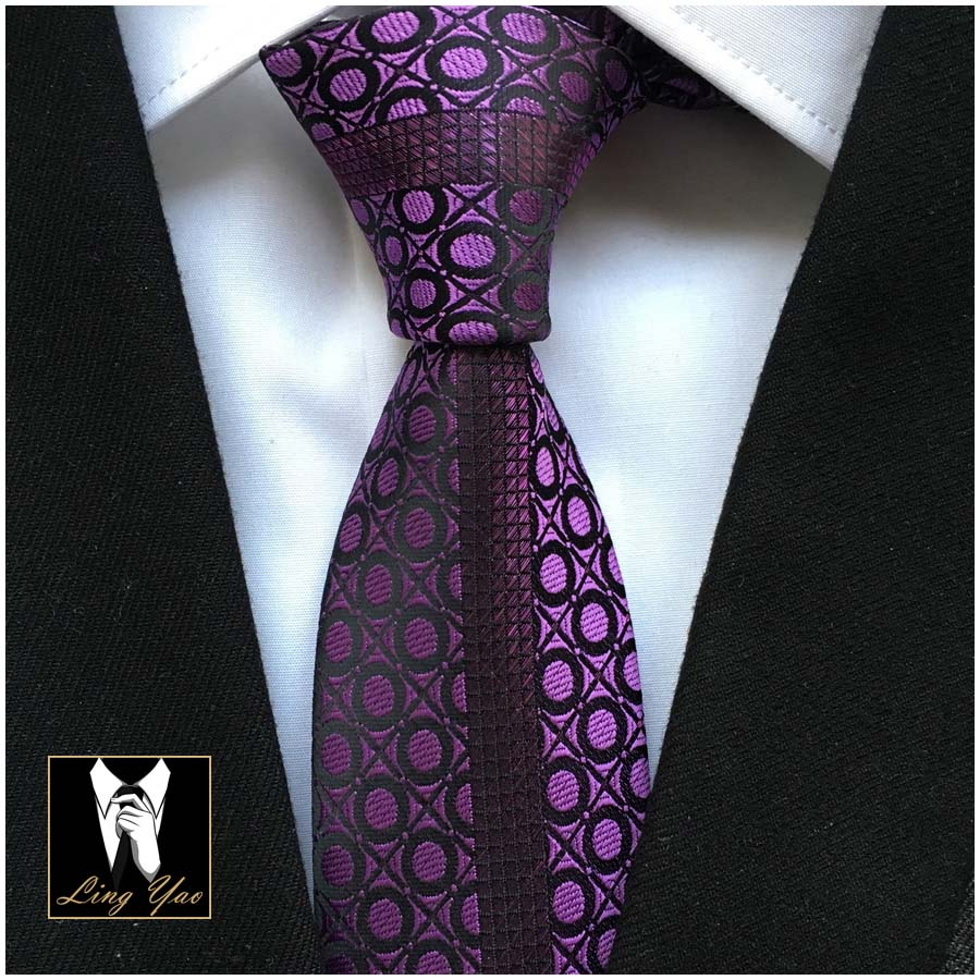 Young Men Fashion Slim Tie Personality Casual Geometric Pattern Necktie High Quality Handmade Woven in Men 39 s Ties amp Handkerchiefs from Apparel Accessories