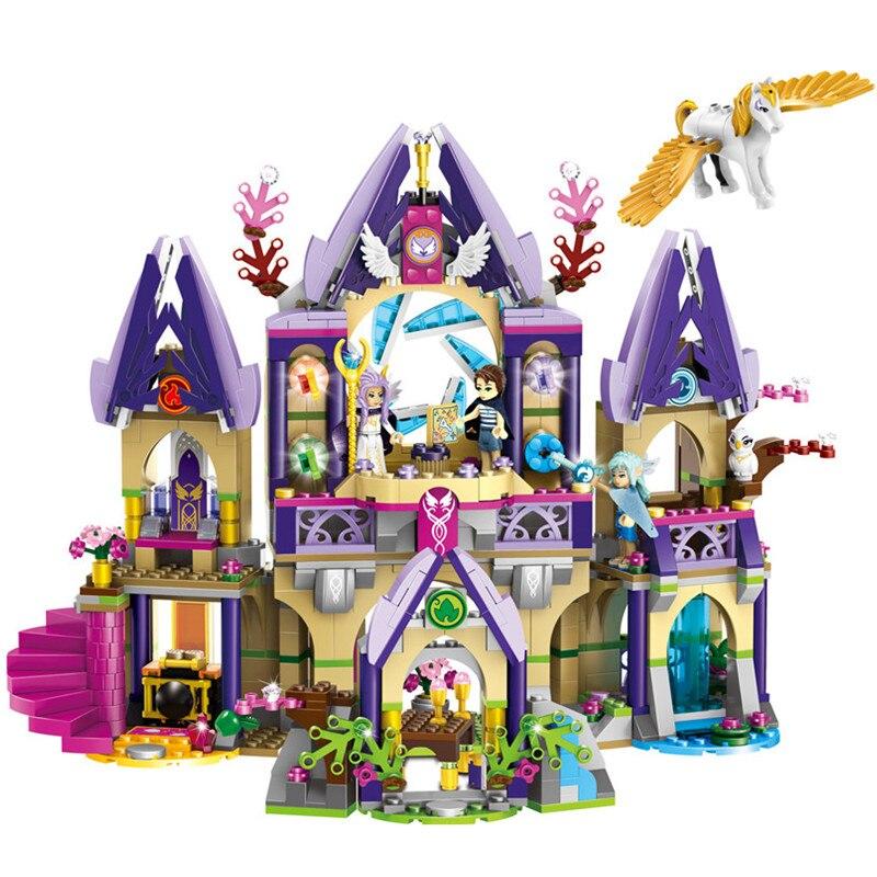 809pcs Elves Skyra s Mysterious Sky Castle Building Blocks Kit Toys Gifts
