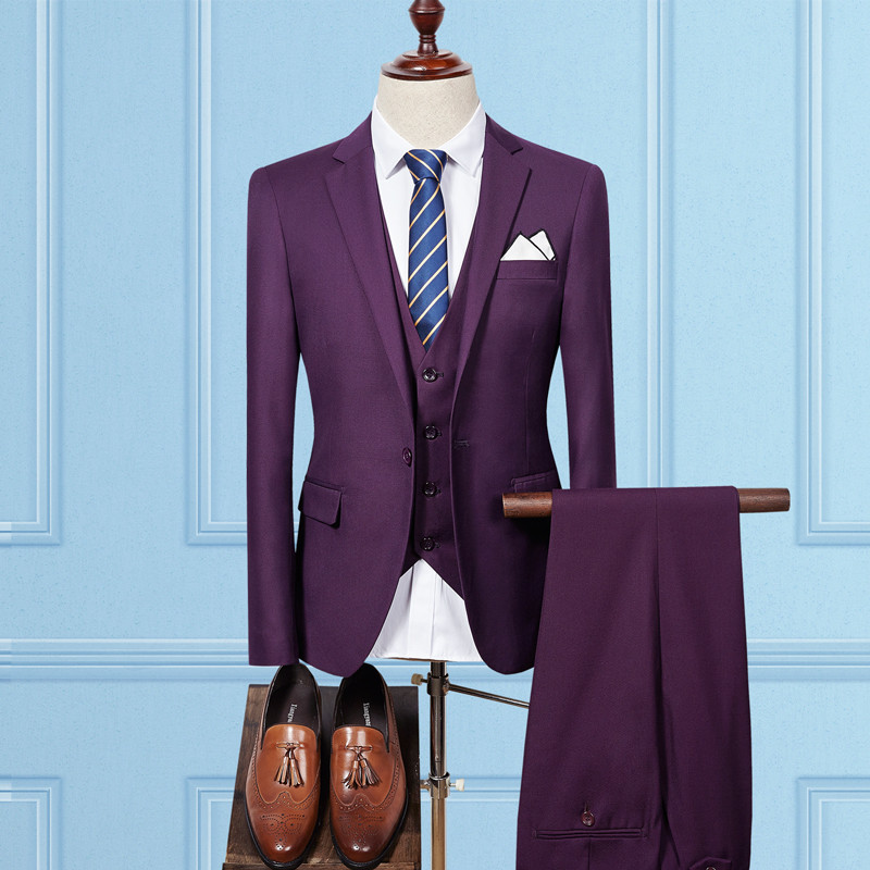 Pantalon Marié D'affaires Buttons Costumes Gamme Buttons light De Officielle navy Blue Gilet Robe Solide Pièces 2 Blazer Marque Haut Mariage Buttons Grey dark Black Buttons B Couleur Buttons black veste Hommes 1 purple Buttons Red Trois wine 56qE7z