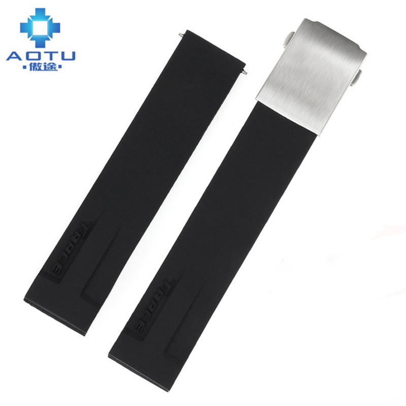 Silicone Watchbands For Tissot Racing Series T048 417 27 207 Sport Men Watch Strap For Male Watch Genuine Silicone Watch Band for alcatel one touch idol 3 6045 ot6045 lcd display digitizer touch screen assembly free shipping 10pcs lots free dhl