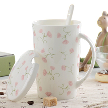 цена на European-style Ceramic Cup Creative With Lid Mug Large Capacity High-grade Bone China Cup Office Cup Coffee Cup Milk Gifts Mugs