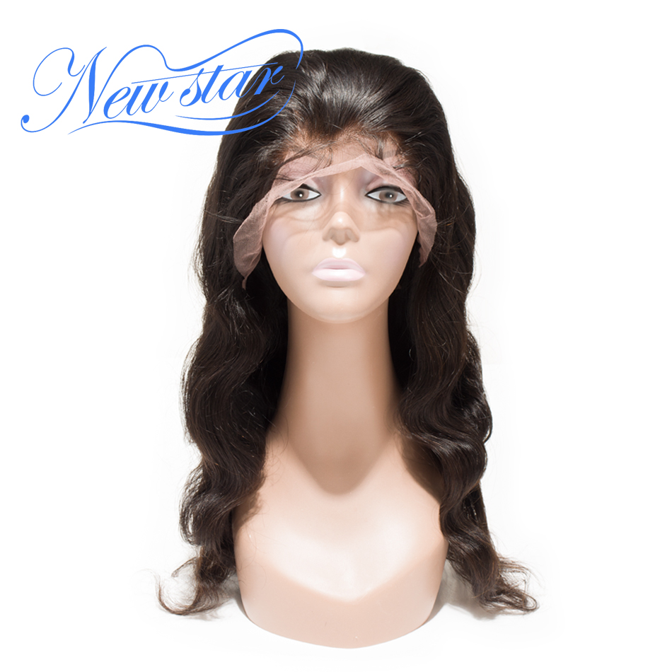 New Star Hair Glueless Full Lace Wig Brazilian Body Wave Virgin Human Hair 130% Density Pre-Plucked Lace Wig Bleached Knots