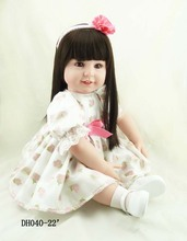 Fashion 55cm silicone vinyl reborn baby doll lifelike reborn newborn princess toddler doll kid high-end christmas boutique gifts