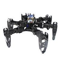 18 DOF Aluminium Hexapod Spider Six legged Robot DIY Development Kit phone Remote Control Bionic Spider Multi learning Education