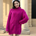 Thick Winter Sweater Women Batwing Sleeve Half Turtleneck Sweaters and pullovers long pull hiver femme