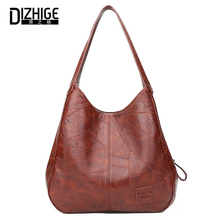 DIZHIGE Brand Fashion PU Leather Women Handbag High Quality Shoulder Bags For Luxury Large Capacity Solid Zipper Tote