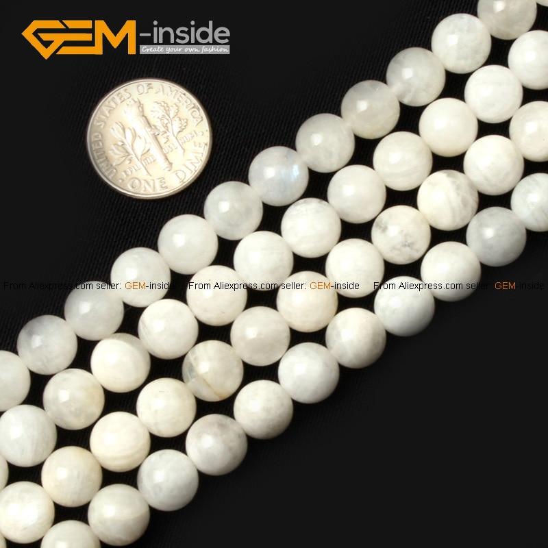 Klejnot wewnątrz 6-14mm koraliki z kamienia naturalnego okrągłe - Modna biżuteria - Zdjęcie 3