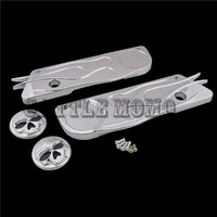Cross SADDLEBAG LATCHES Decorative cover ELECTRA GLIDES ROAD KINGS STREET GLIDES ROAD GLIDES & tour glides with hard saddlebags