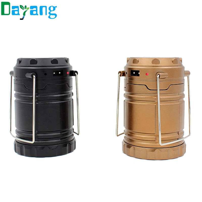 Solar Charging Camping Lantern 6leds Rechargeable Camping Light