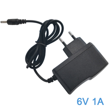 AC Power Adapter Output 6V 1A Wall Charger DC Adapter 1M (3ft) EU Plug 5.5 x 2.1mm for Trash Can Arm Blood Pressure Monitor Etc. 12 6v 1a eu plug lithium battery charger charger 12 6v power adapter charger with wire lead dc 5 5 2 1mm