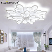 Black&White Acrylic Modern Led Chandelier For Living room Lights Bedroom Ceiling Mounted Lighting LED Lustres