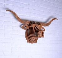 Nodic деревянный буйвол голову для украшения стены, украшения дома стены искусства, деревянный головой животного стены, элементы новизны, рез