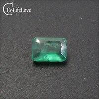 Изумруд огранки изумруд свободные драгоценный камень 5 мм * мм 7 0,7 ct Настоящее натуральный изумруд драгоценный камень