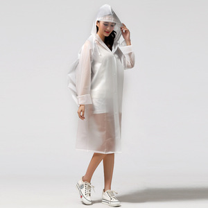 Image 3 - Moda EVA przezroczysty wodoodporny damski płaszcz przeciwdeszczowy poncho wiatroszczelny płaszcz przeciwdeszczowy z torbą szkolną lokalizacja wspinaczka Tour płaszcz przeciwdeszczowy