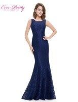 Elegant Evening Dress Ever Pretty New Arrival 2016 HE08825 Women Elegant Round Neck Plus Size Long