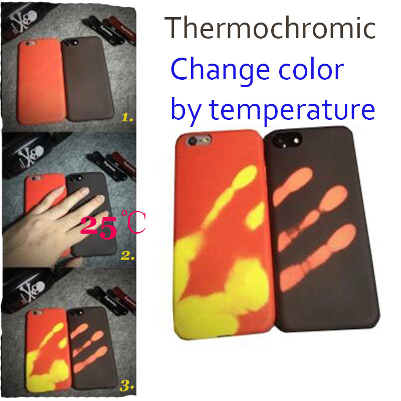 AE Top sales Store NEWEST Thermochromic Change Color By Temperature TPU case for iPhone 6 6s 7 7 plus iPhone6s Back Cover Not PC Not Silicone