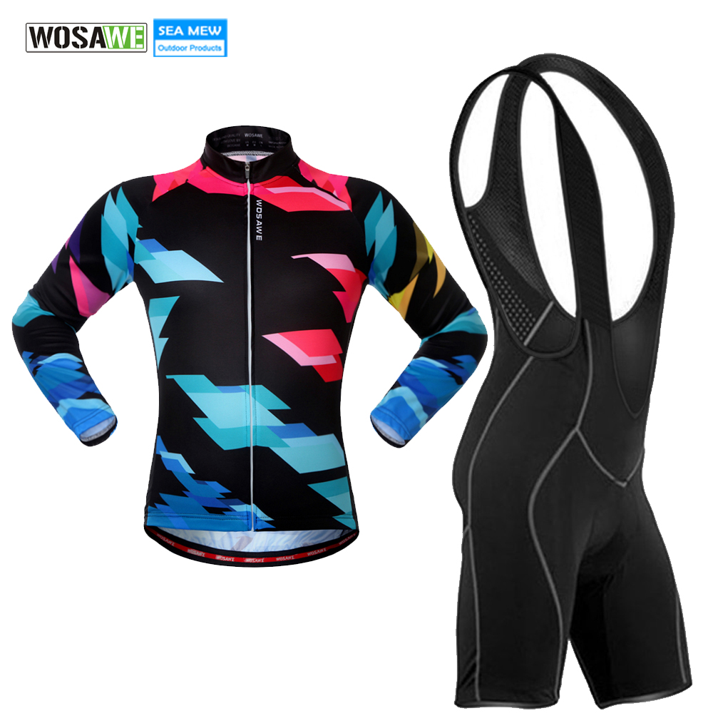 WOSAWE 2017 Cycling Jersey Long Set Bike Short Sleeve Anti UV Bicycle Cycling Clothing Quick Dry Bicycle Uniform Clothes veobike men long sleeves hooded waterproof windbreak sunscreen outdoor sport raincoat bike jersey bicycle cycling jacket