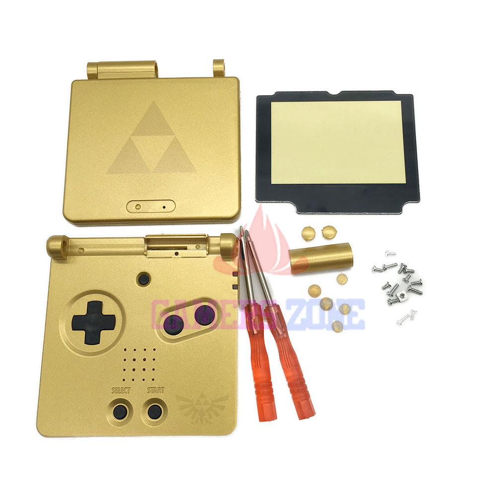 Gold For Zelda Limited Edition Housing Shell Case Cover for GBA SP
