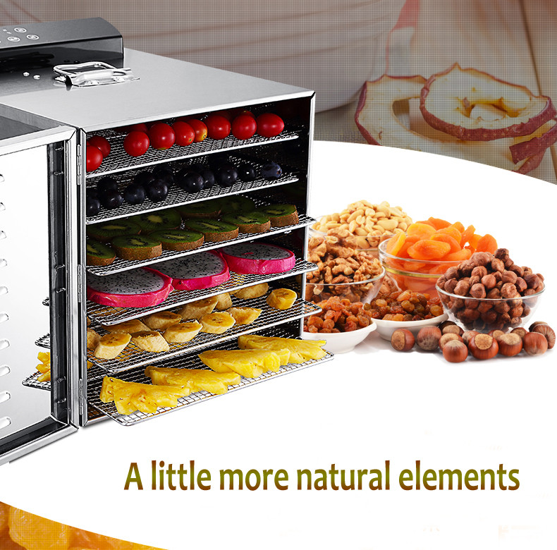Temperature time control Stainless Steel fruit dehydrator machine dryer for fruits and vegetables food processor drying fish (6)