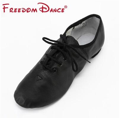 Quality Pig Leather Lace Up Jazz Dance Shoes Bløde Ballet Jazz - Kondisko - Foto 4