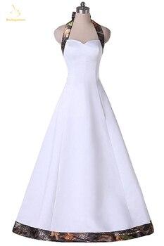10b61faaf65bd Bealegantom Sexy Sweetheart White and Camouflage Wedding Dresses 2018 Long  Camo Bridal Gowns Vestido De Novia QA1421