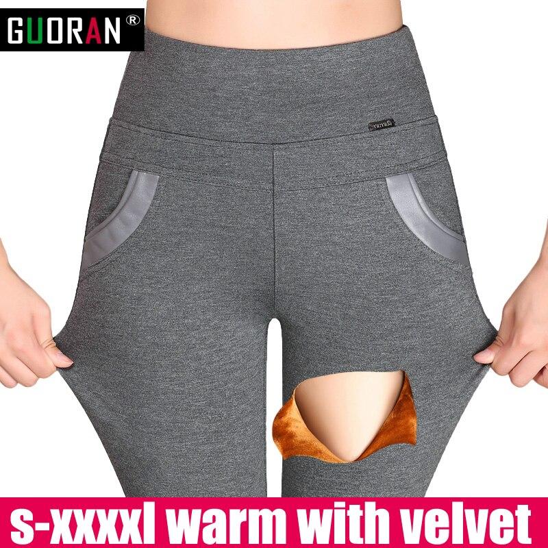 Hiver Femmes pantalon pantalones mujer outwear leggings taille haute en coton épais mince chaud maigre crayon pantalon pantalon femelle