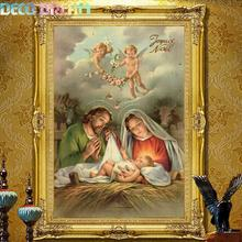 Full Diamond Painting Jesus Was Born Diy Biblical Figure Decorative A Good Craft As Gift