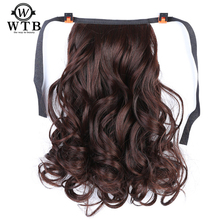 WTB short wavy Synthetic Ponytail hair Claw Drawstring Ponytails Heat Resistant Hair for Women недорого