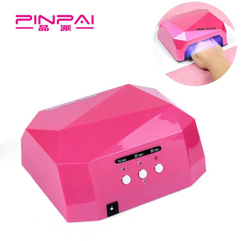 Pin Pai Nail Dryer Diamond UV Lamp LED Nail Lamp Shaped 36W Long LED CCFL Curing Nail Tools for UV Gel Nail Art Polish led lamp nail art dryer nail lamp watch shaped long life 9w led curing for gel polish nail art beauty care manicure tools
