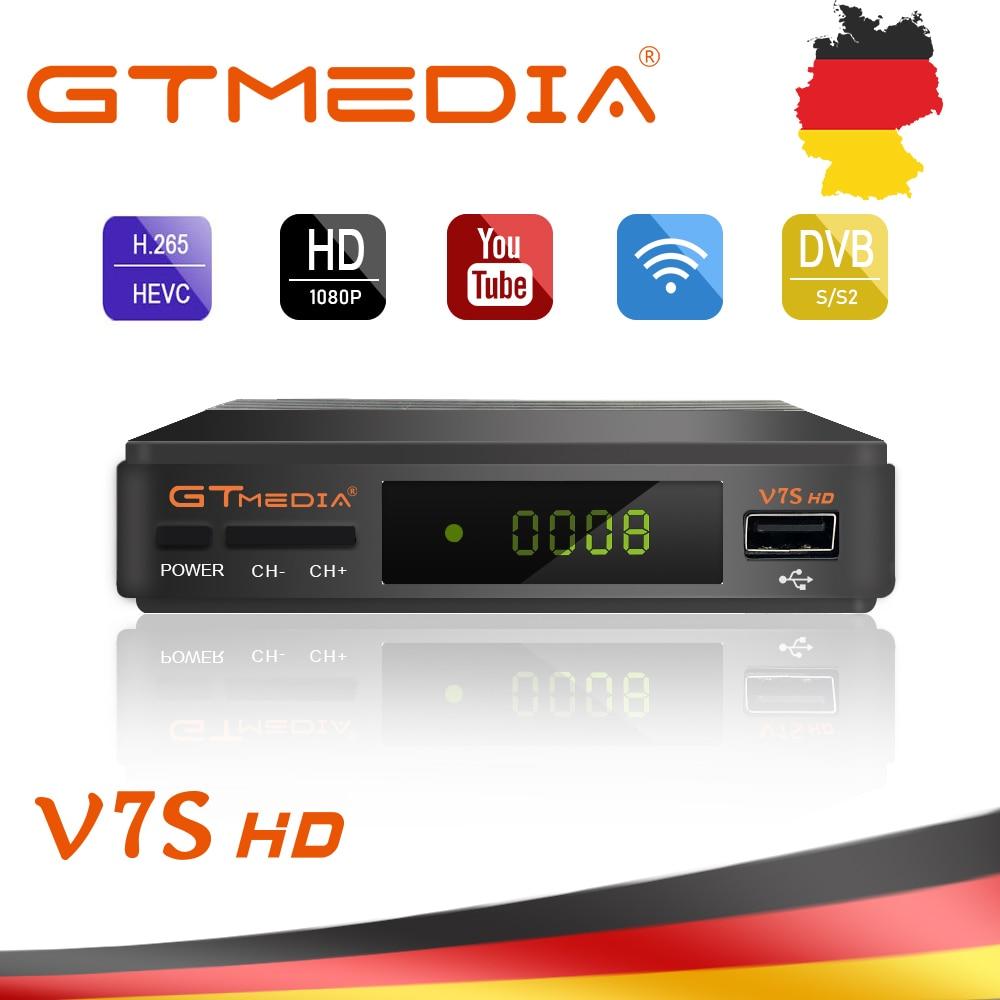 1 год Европа 7 резких перемен температуры сервер GTMedia V7S HD цифровое спутниковое приемник DVB-S2 V7S Full HD 1080 P + USB WI-FI обновления Freesat V7