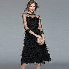 Party Black Dress Robe Femme Great Gatsby Flapper Sequin Fringe Embroidery  Women Midi Dress Summer Deco 42147da92384