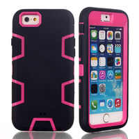 Hybrid Heavy Duty Shockproof Full-Body Protective Case with 3 Layer PC+Silicone for iphone 4/ 4S/ 5/ 5S/ 6 4.7/6 PLUS 5.5