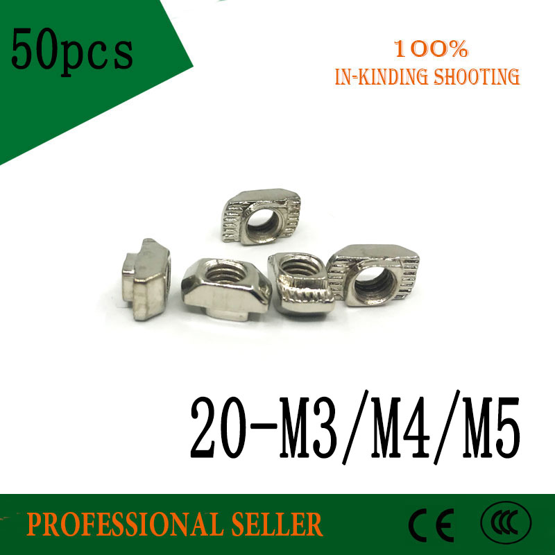 50pcs-20-m3-m4-m5-t-nut-hammer-head-fasten-nut-3d-printer-parts-nickel-plated-for-20-series-t-slot-groove-6-20tn-2020