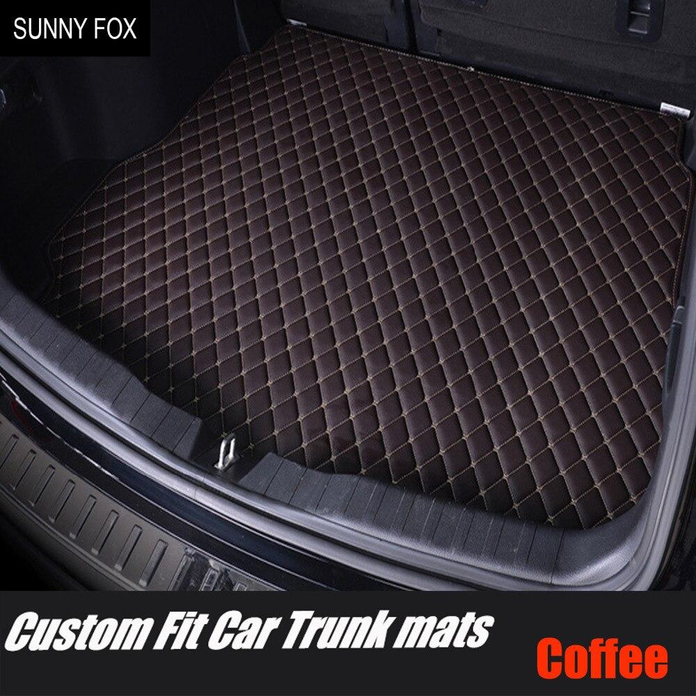 Custom Make Car Trunk Mats Cargo Liner For Audi A5 Sportback S5 A3 A4 A6 A7 A8 A8L Q3 Q5 Qweather Car Styling Rugs Carpet Floor