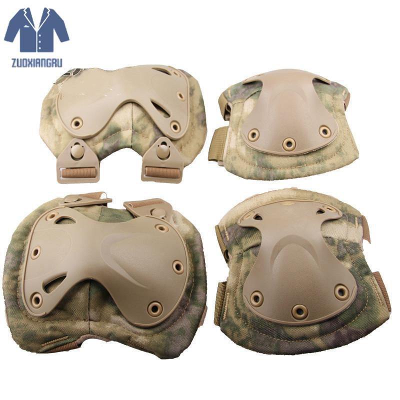 Zuoxiangru 4pcs/set Army Tactical Knee Pads Of X-type Knee Protector Support For Cs And Extreme Sports Airsoft Knee & Elbow Pads