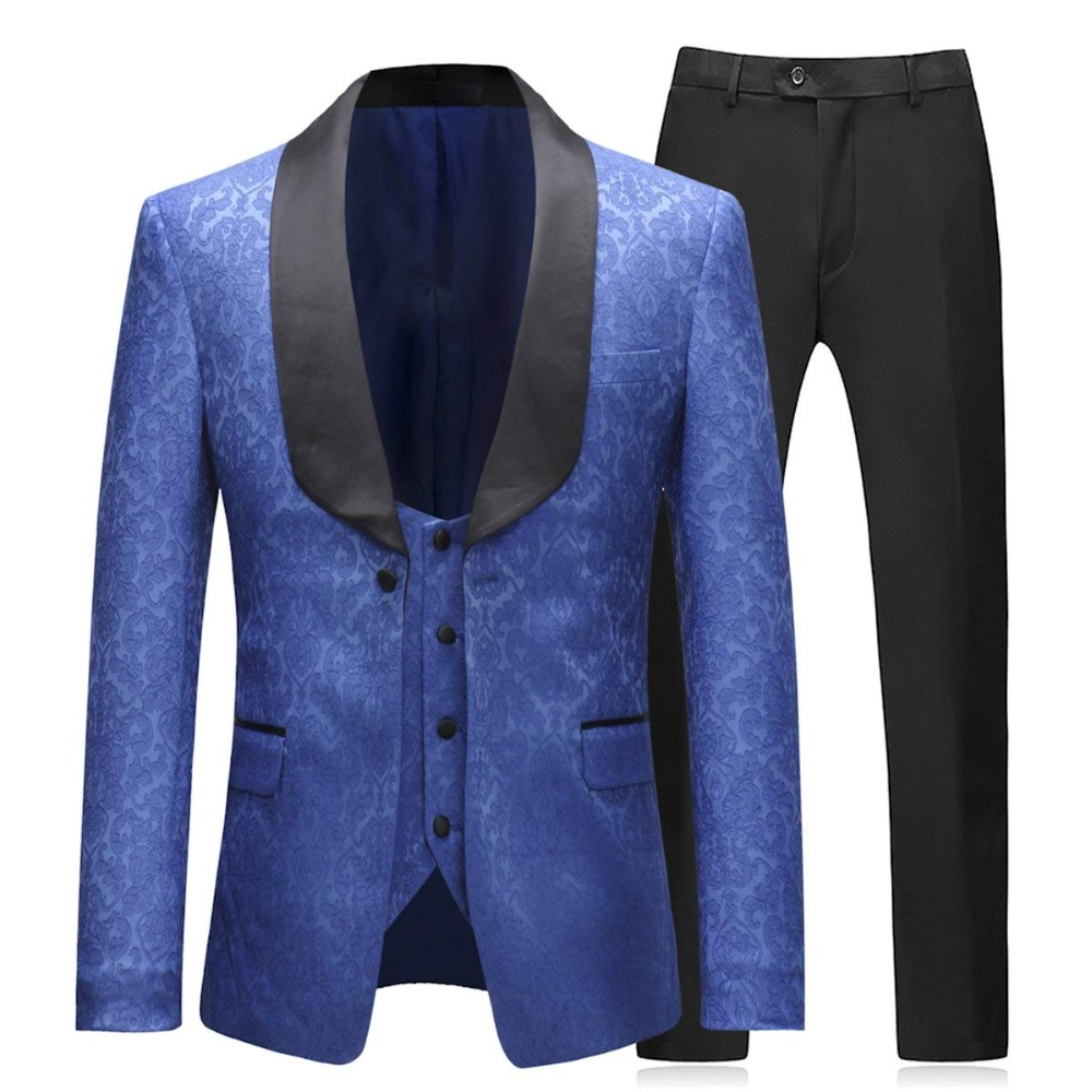 Men Suit New Slim Fit Classic Tuxedos Modern Blazer Jacket 3 Piece Tweed Business Suit For Weddding