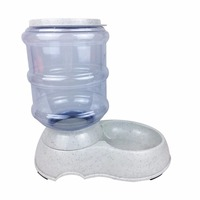 3 5L Large Automatic Pet Feeder Drinking Fountain For Cats Dogs Healthy Plastic Dog Food Bowl