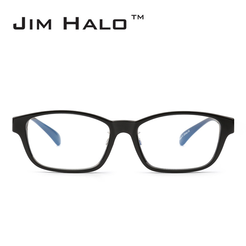 Jim Halo Blue Light Block Computer Reading Glasses Reduce Eye Strain Anti Glare Clear Lens Video Rectangle Eyeglasses Men Women